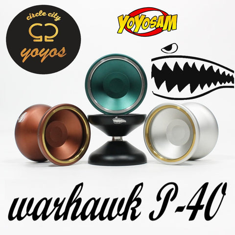 Circle City YoYos Warhawk P40 Yo-Yo - Bi-Metal YoYo - Many Extras