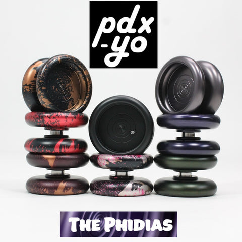 pdx-yo The Phidias Yo-Yo - 7075 Aluminum Mono Metal Slimline YoYo - Fixed to Unresponsive Play - YoYoSam