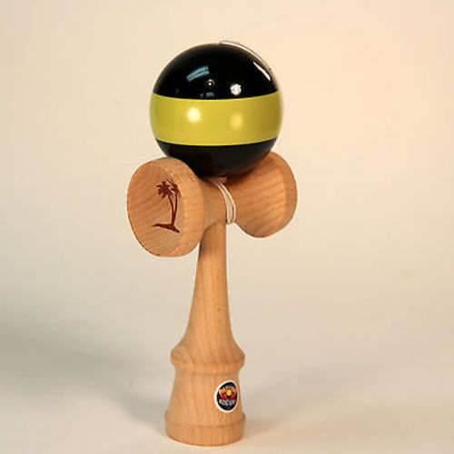 Bahama Kendama Belted Kendama - Black Yellow - - YoYoSam