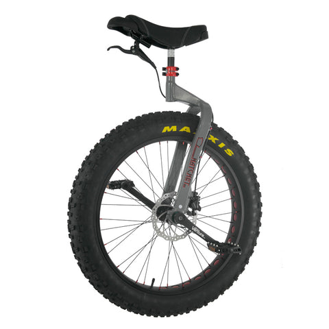 "Nimbus Hatchet 26"" Mountain Unicycle - Maxxis Minion FBR Tire (Grey Frame) - YoYoSam"