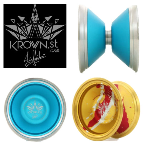 C3yoyodesign Krown ST Yo-Yo - 7068 Aluminum YoYo - World Champion Shinya Kido Signature Yo-Yo