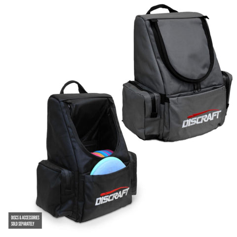 Discraft Tournament Disc Golf Backpack - Holds 18-22 Discs - Water Resistant