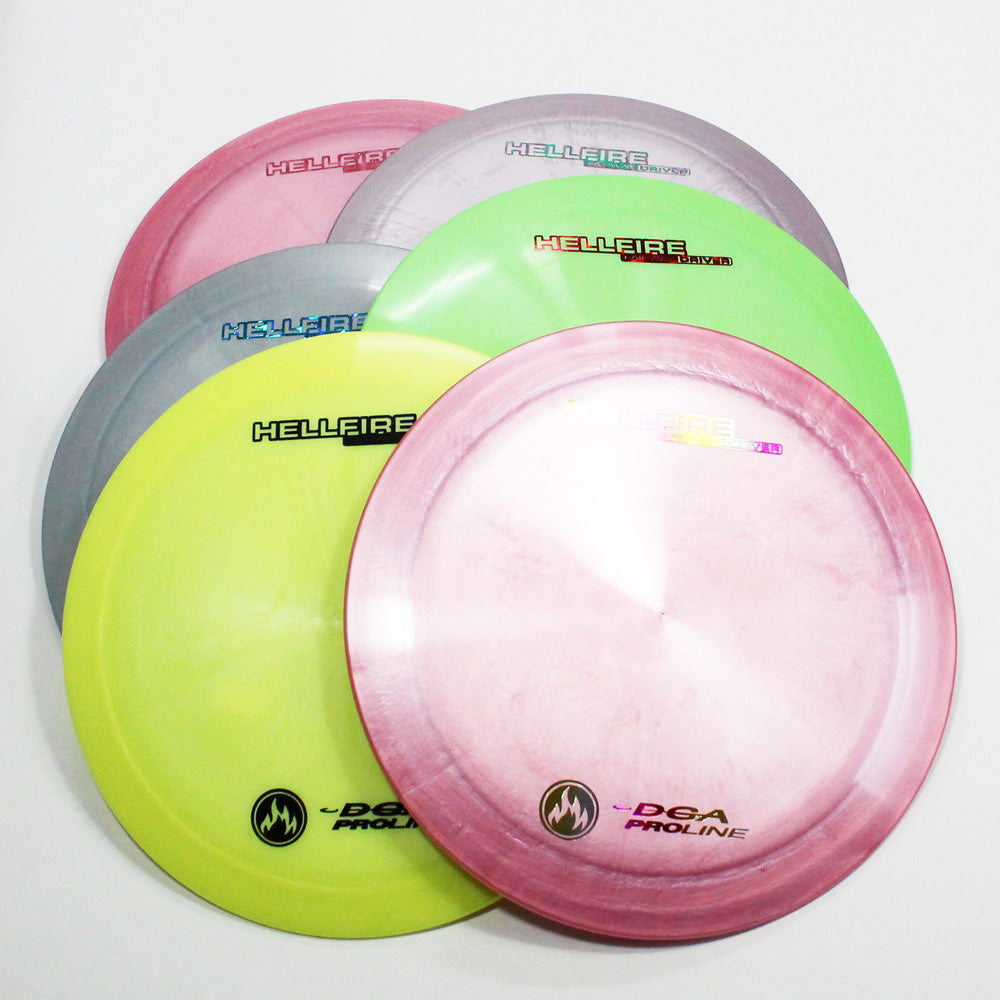 DGA Hellfire Disc Golf- Fairway Driver- Many Styles! Colors and Weight may Vary (167g -174g) Sold Individually - YoYoSam