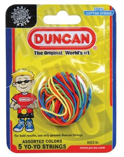 Duncan Yo Yo String, Multi Color (5-Pack)