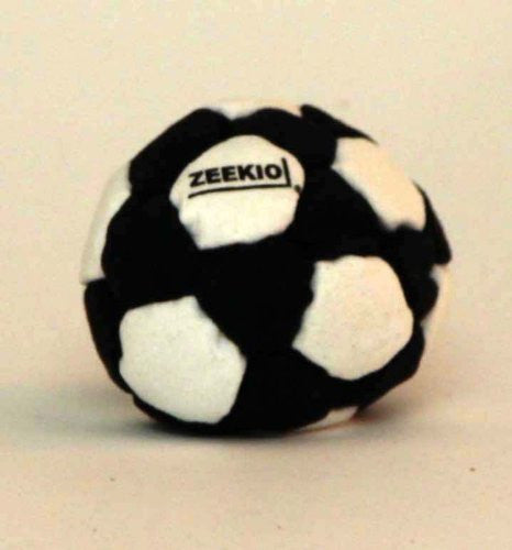 Zeekio Footbag - The Foot Pro - 32 Panel Black and White Footbag