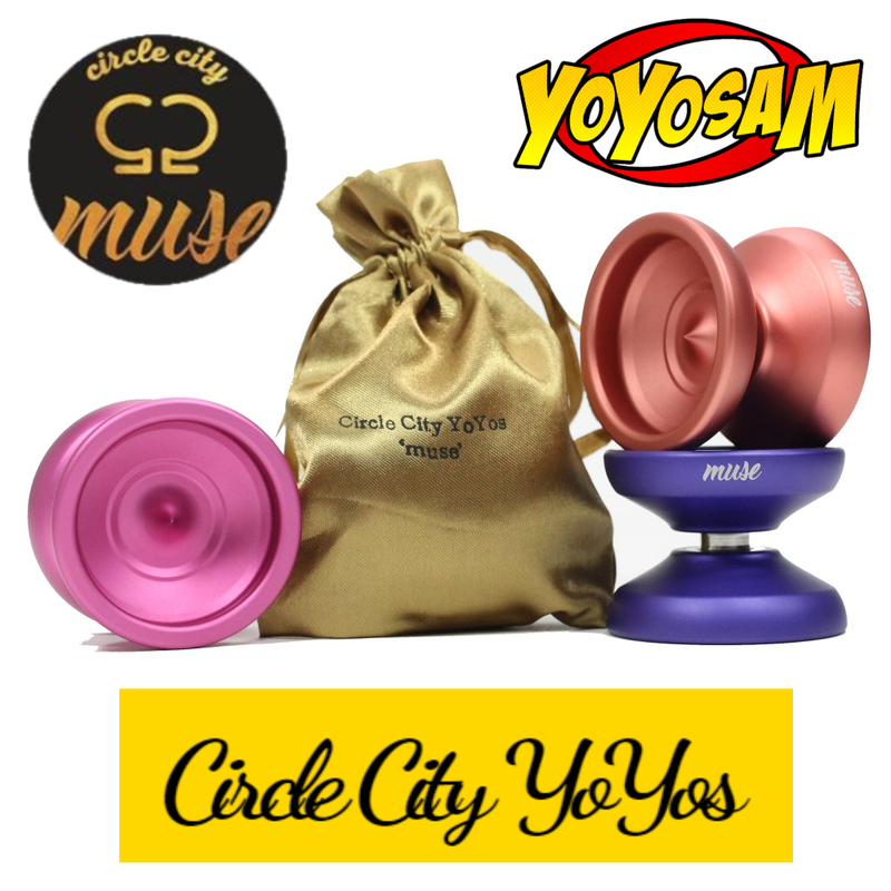 Circle City YoYos Muse Yo-Yo - High Quality Bead Blasted YoYo - Pouch Included! - YoYoSam