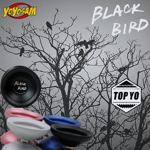 TOP YO Black Bird Yo-Yo - 7003 Aluminum YoYo - Collaboration with Rihara Designer Zhang Wenlin