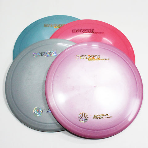 DGA Banzai Disc Golf- Fairway Driver- Many Styles! Colors and Weight may Vary (150g -176g) Sold Individually