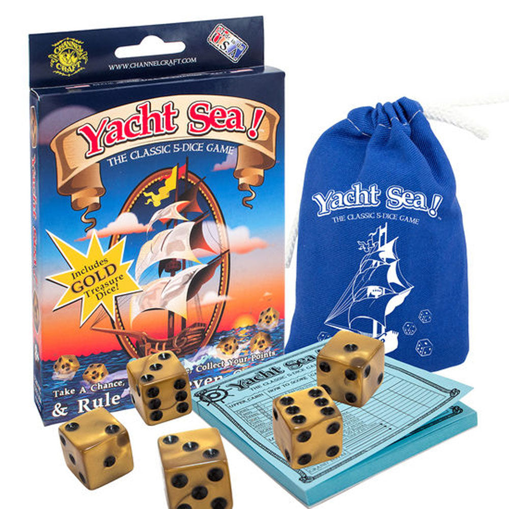 Channel Craft Yacht-Sea! Dice Game-The classic five-dice game with a Nautical twist!