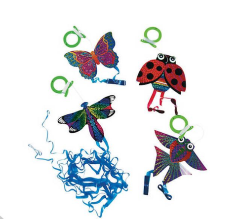 ZeeKites Mini Kite with Tail Ribbons! Ready to Fly! Assorted Lots Available! - YoYoSam