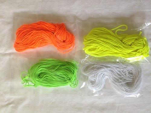 40 Yo-Yo String (10 Each - Florescent Lime Green, Yellow, Orange and White)