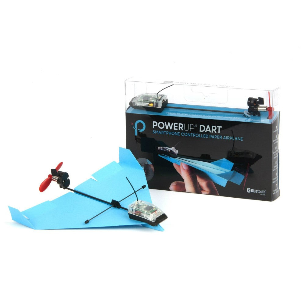 PowerUp Dart - Smartphone Controlled Paper Airplane Kit - Convert Paper Airplane into a Jet