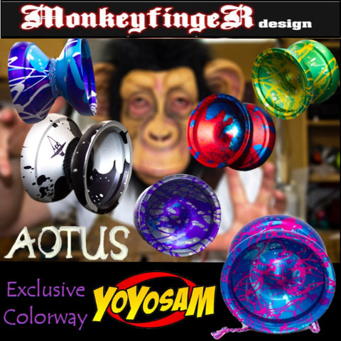 MonkeyfingeR Aotus YoYo - High Performance Aluminum Yo-Yo - Will Hahn Signature - YoYoSam