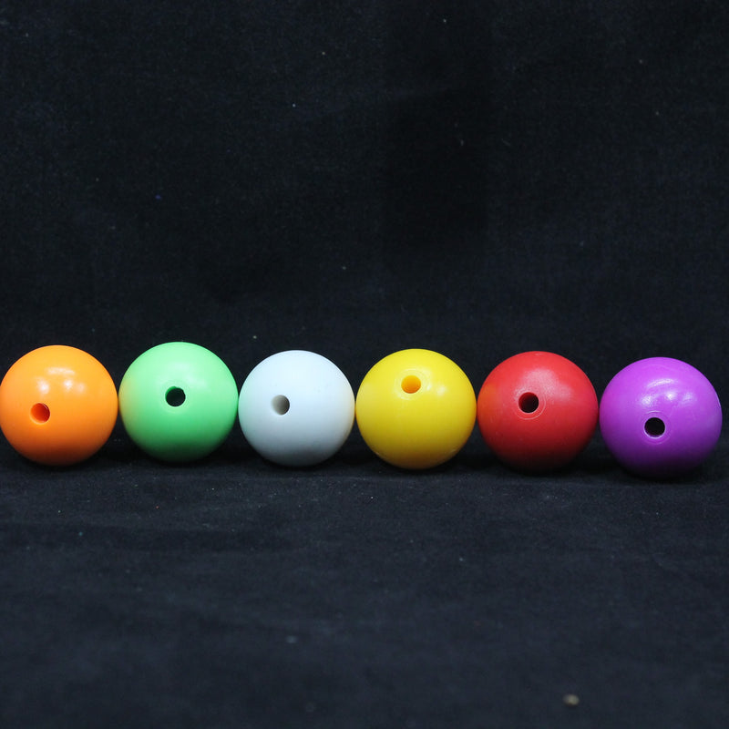 YoYoFactory Yo-Yo Counterweight Set - 6 Pack - 1 White Rubber and 5 POM Commando 5A YoYo Balls - YoYoSam