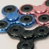 Zeekio Fidget Spinner -Metal Tri-Spinner - Aluminum and Steel - Hybrid Ceramic Bearing