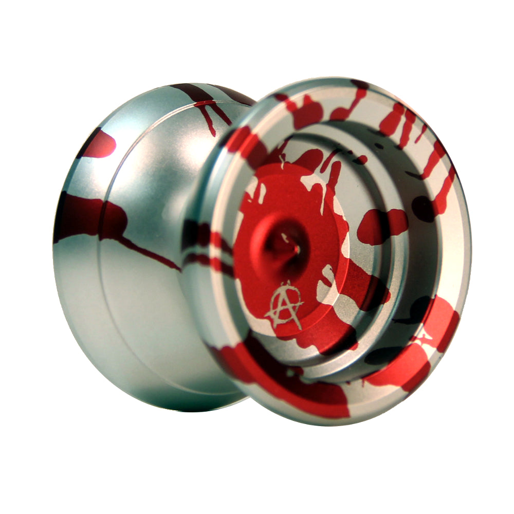 Zeekio Anarchist Yo-Yo - Rainbow Anodized and Colored Acid Wash Finish