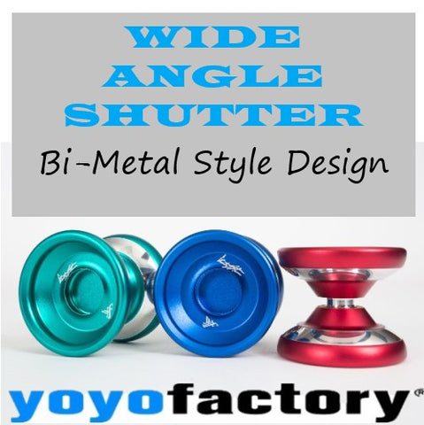 YoYoFactory Wide Angle Shutter Yo-Yo - Bi-Metal Design Look and Style - Gentry Stein