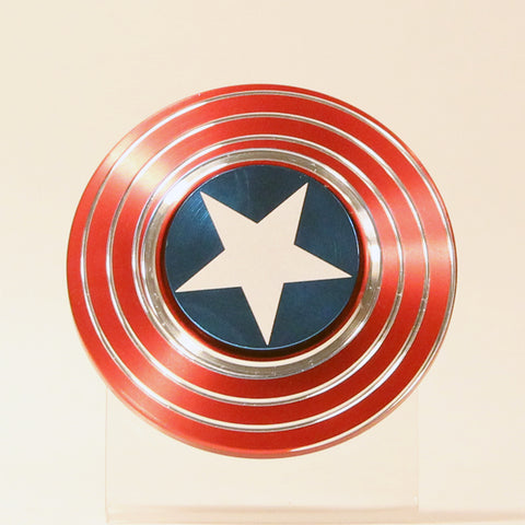 The Captain's Shield Fidget Spinner- American Colors- Creates Optical Illusions!