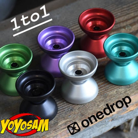 One Drop 1 to 1 Yo-Yo - 6061 Aluminum YoYo- 53mm Width and Diameter - YoYoSam