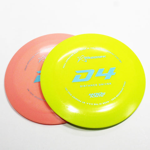 Prodigy D4 400G Disc Golf- Distance Driver - Many Styles! Colors and Weight may Vary (170g -174g) Sold Individually