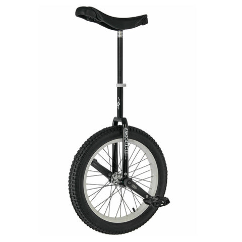 Impact 19'' Athmos Unicycle BLACK- White Rims - Ready to Ride Trials Package - High Performance Unicycle - YoYoSam