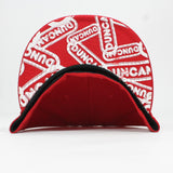 Duncan Yo-Yo Logo Fitted Baseball Cap - New Era Hat with Duncan Logo on Front and Underside of Brim
