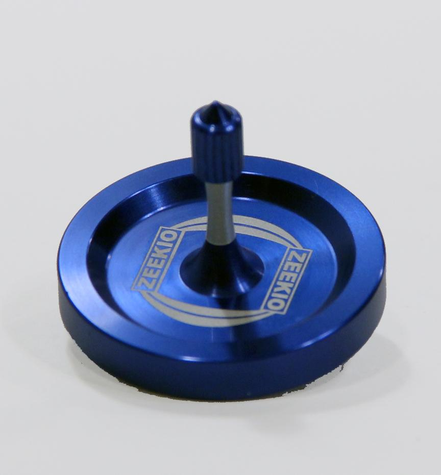 Zeekio Forever-Spin Mini Spin Top - Anodized Aluminum - Crazy Long Spins