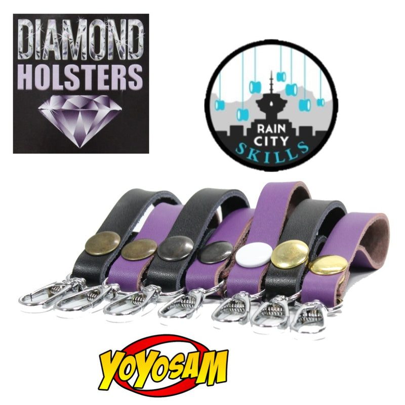 Rain City Skills Diamond Yo-Yo Holsters - Leather YoYo Holder - YoYoSam