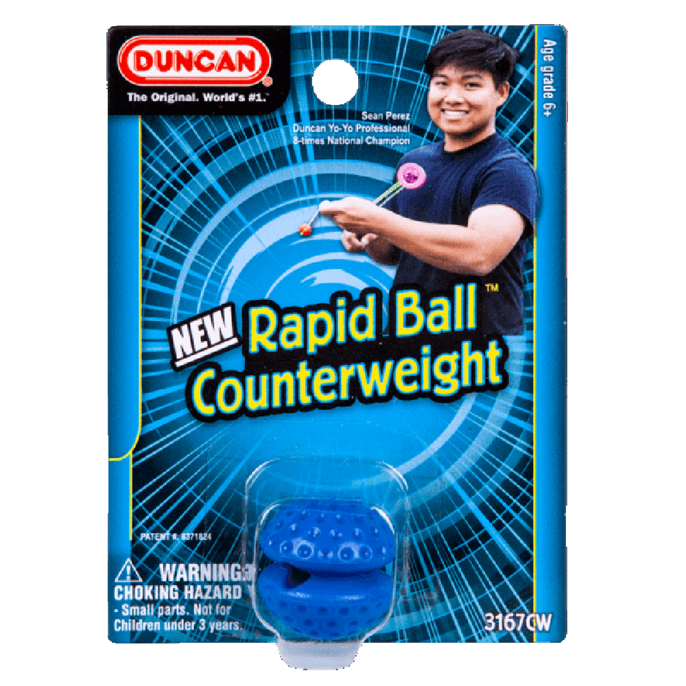 Duncan Rapid Ball Counterweight- Polycarbonate Plastic- Competition-Oriented - - YoYoSam