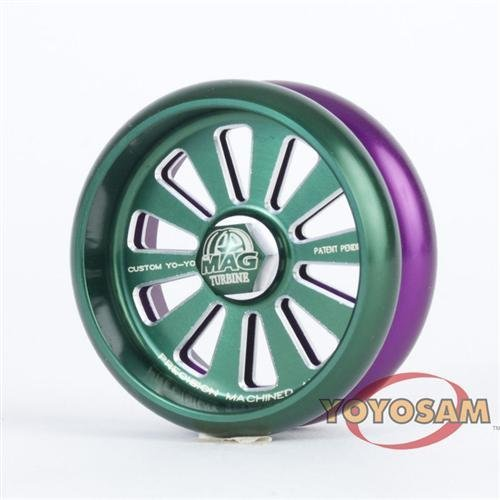 Custom Products MAG Turbine Yo-Yo - Green and Purple - YoYoSam