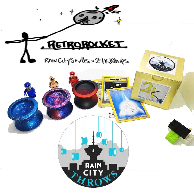 Rain City Skills Retro Rocket Yo-Yo - 24K Whips Collaboration YoYo - YoYoSam