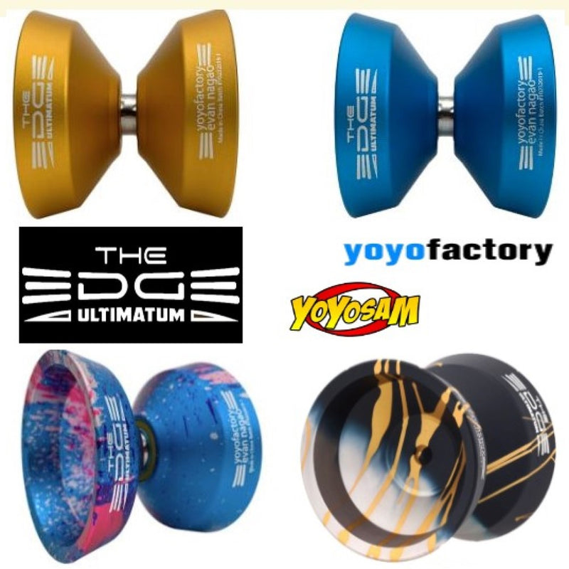 YoYoFactory Edge Ultimatum Yo-Yo - Wider Size -Lighter Weight! - Evan Nagao Signature YoYo