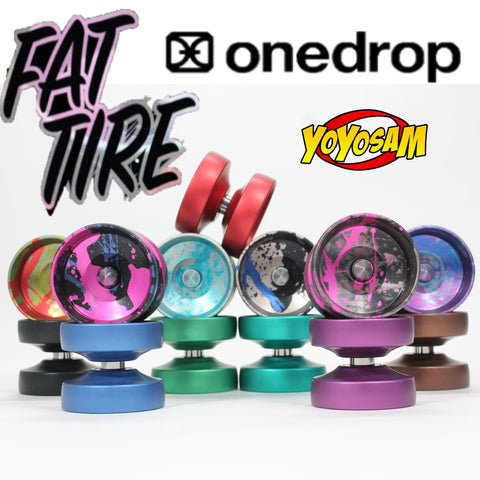 One Drop Fat Tire Yo-Yo - Aluminum Spike Side Effects - Unique Wide Rim YoYo - YoYoSam