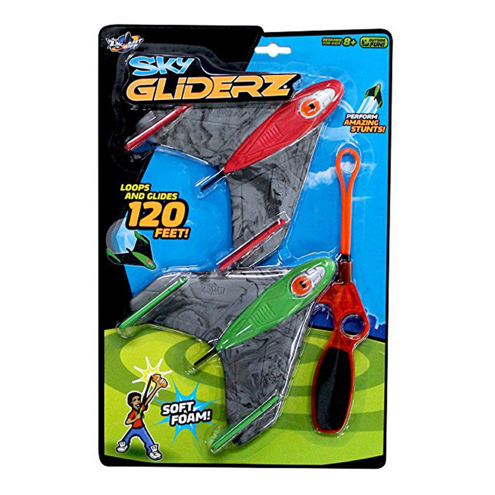 Sky Gliderz Loops and Glides 120 Feet - Soft Foam (2 Gliders 1 Launcher) by Zing