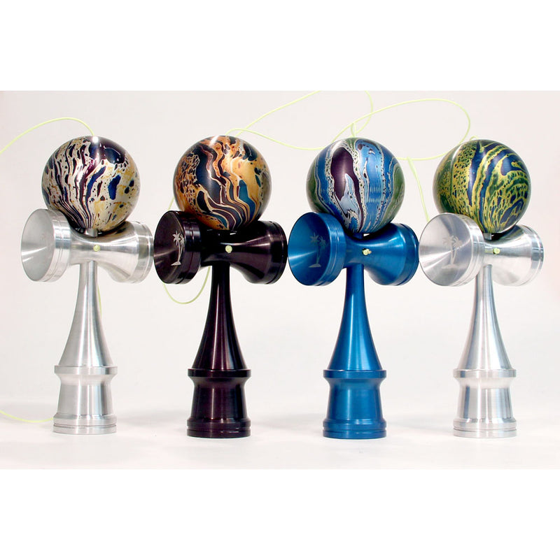 Bahama Kendama Amazing Aluminum Kendama - Annodize Solids and Splash - Comes in Wooden Box - YoYoSam
