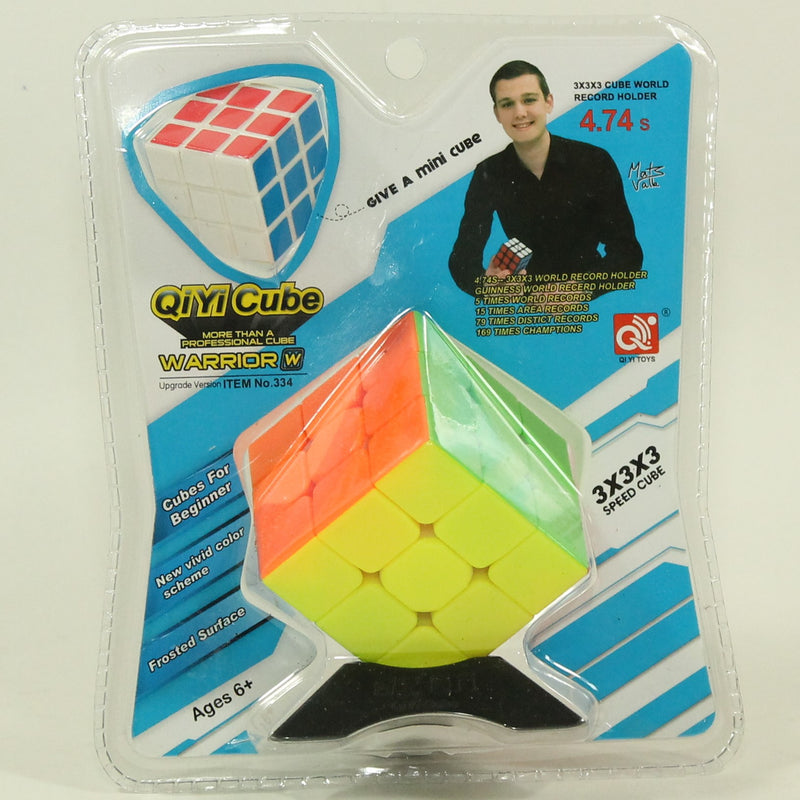QiYi Puzzle Cube - Warrior W 3x3 Stickerless Cube with Bonus Mini Cube - Speedy - YoYoSam