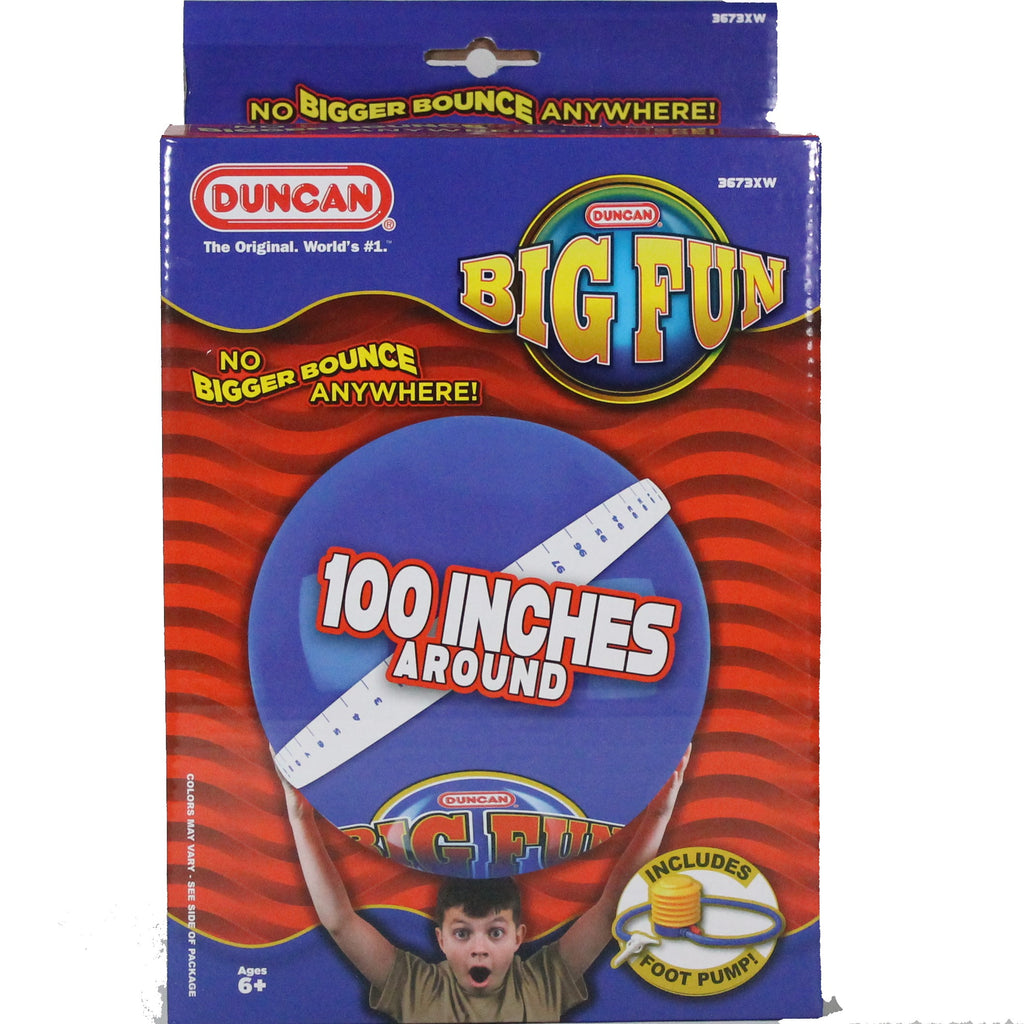 Duncan Mega Bounce Big Fun XL Ball with Foot Pump - YoYoSam