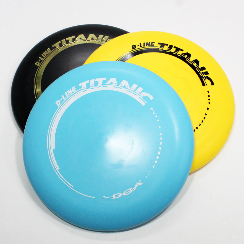 DGA Titanic Disc Golf- Putt & Approach- Many Styles! Colors and Weight may Vary (160g -176g) Sold Individually - YoYoSam