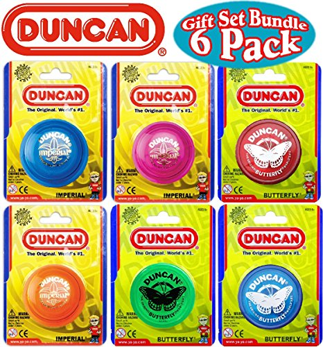 Duncan Yo-Yo Imperial (3) & Butterfly (3) Deluxe Gift Set Bundle - 6 Pack (Assorted Colors) - YoYoSam