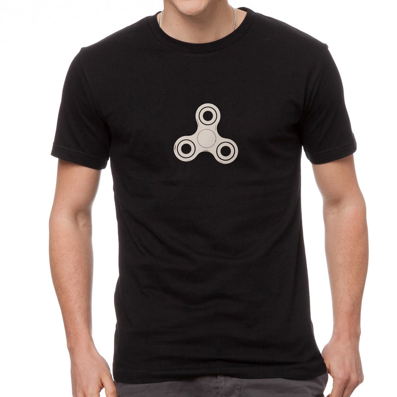 Zeekio Spinsanity Tee Shirt - Black with Small White Fidget Spinner Icon T-Shirt