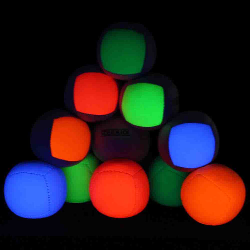 Zeekio Lunar Juggling Ball - (1) Professional UV Reactive 6 Panel Ball - 110g - YoYoSam