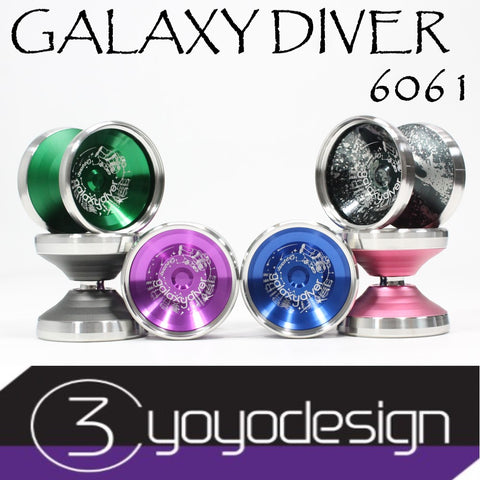 C3yoyodesign Galaxy Diver 6061 Yo-Yo - Aluminum Body - Stainless Steel Rings - Bi-Metal YoYo - YoYoSam