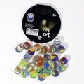 Mega Themed Marbles by Glasfirma - 24 Player Marbles (9/16'') - 1 Shooter (7/8'') - YoYoSam