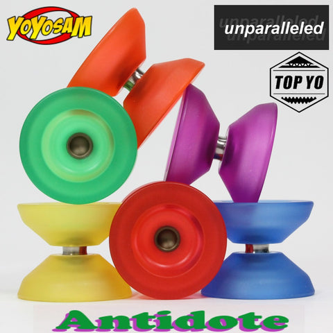 Unparalleled x TOP YO Antidote Yo-Yo - Polycarbonate YoYo - Great for Finger Spins!