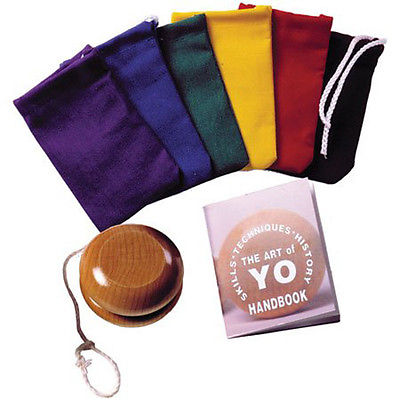 Art of Yo-Yo-Wooden Yo-Yo with Instructions in Plastic Jar with Pouch-USA Made - YoYoSam