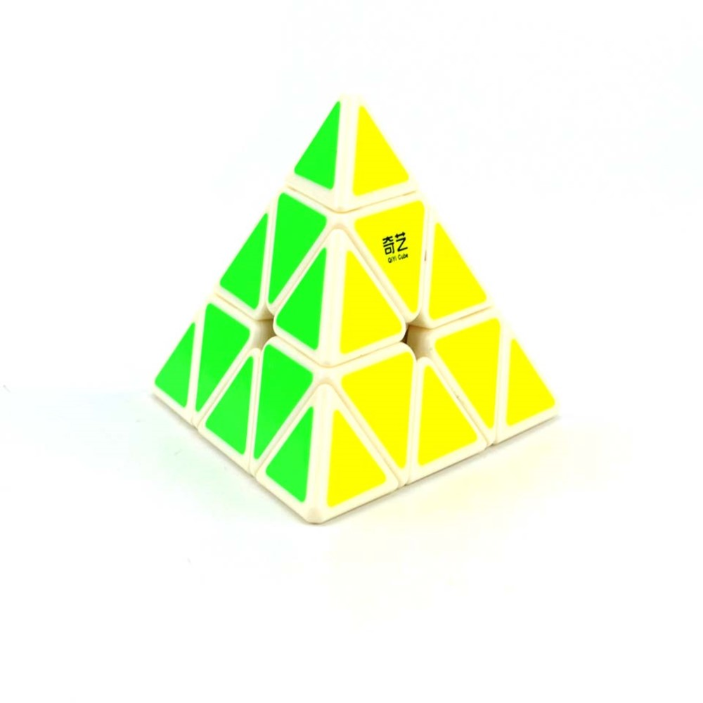 QiYi Puzzle Cube - Pyraminx Cube with Stickers - Speedy - YoYoSam
