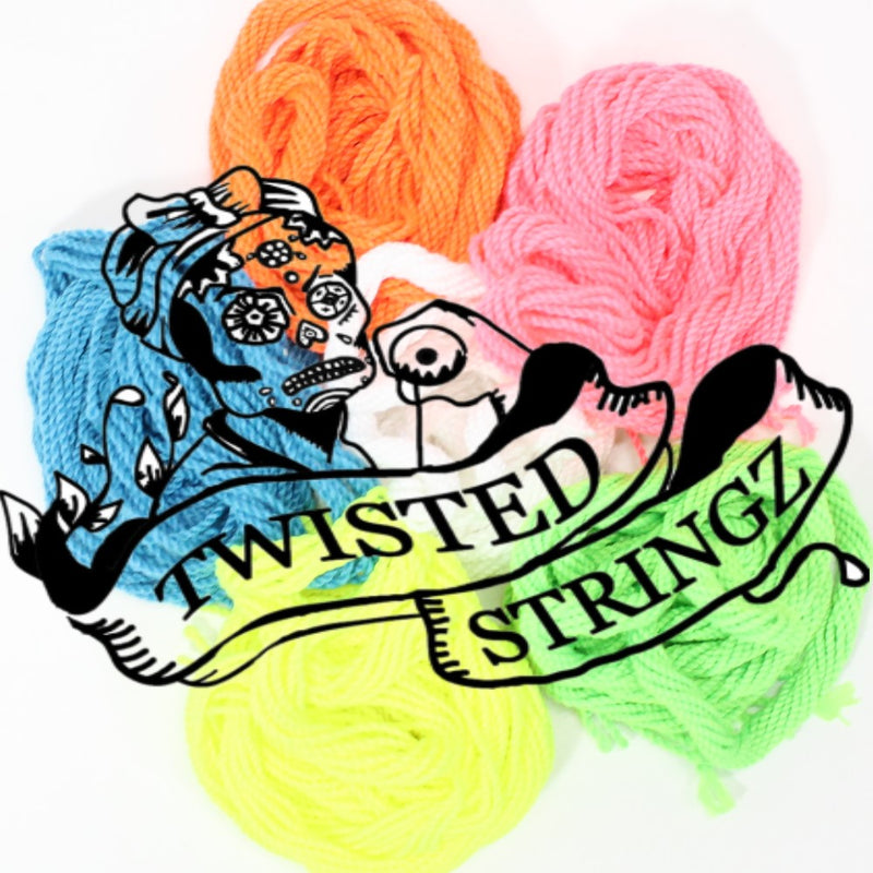 Twisted Stringz Yo-Yo Strings - Polyester - Solid Regular YoYo String - 10 Pack