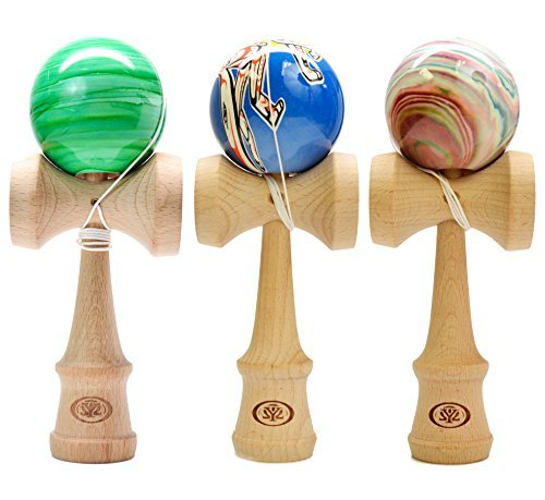 Yomega's Coyote Kendama - Crafted from Beech Wood with Vivid color patterns - YoYoSam