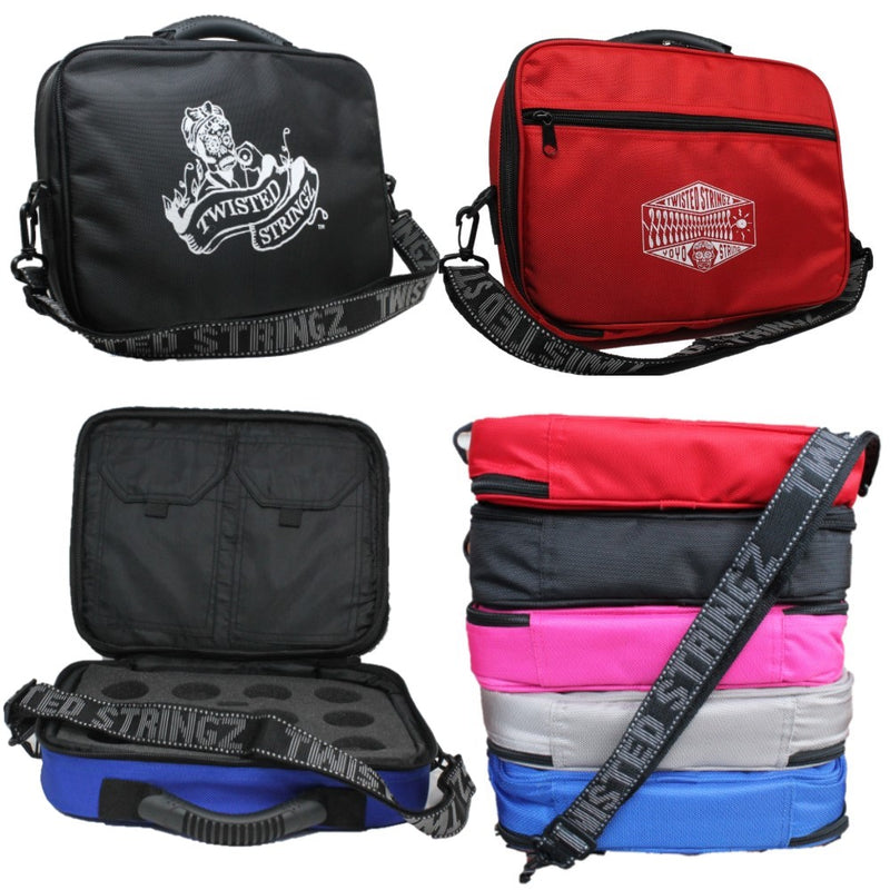 Twisted Stringz Deluxe Yo-Yo Bag - YoYo Carry Case - Holds 12 Yo-Yos- Triple Stitch Shoulder Strap - Double Graphics