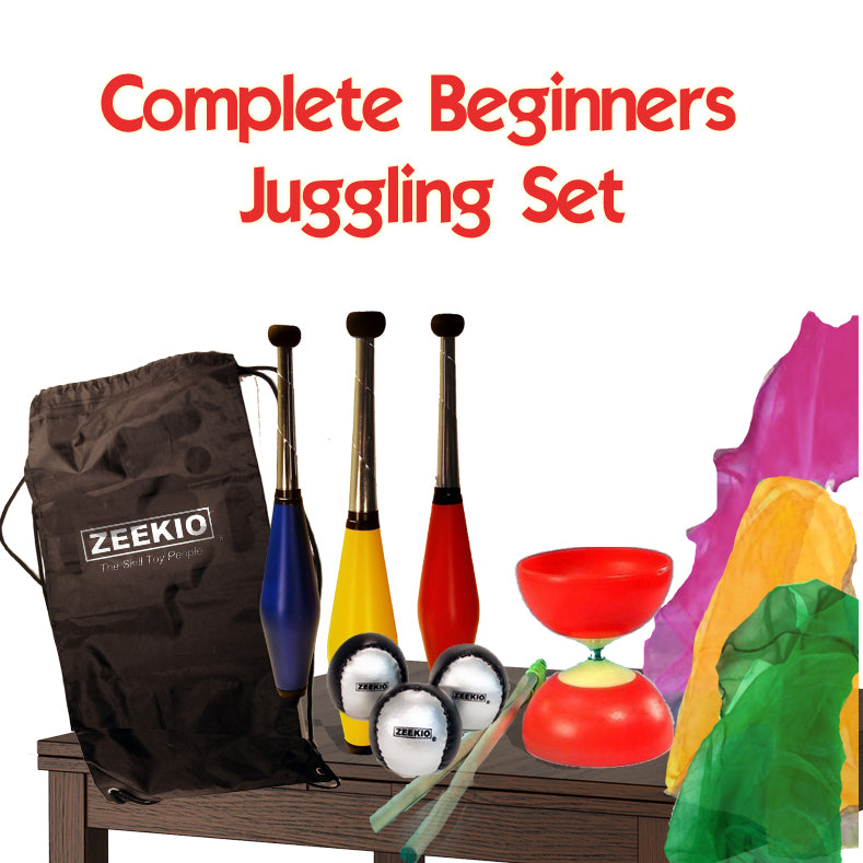 Zeekio Complete Junior Juggling Gift Set - Clubs, Balls, Scarves , diabolo